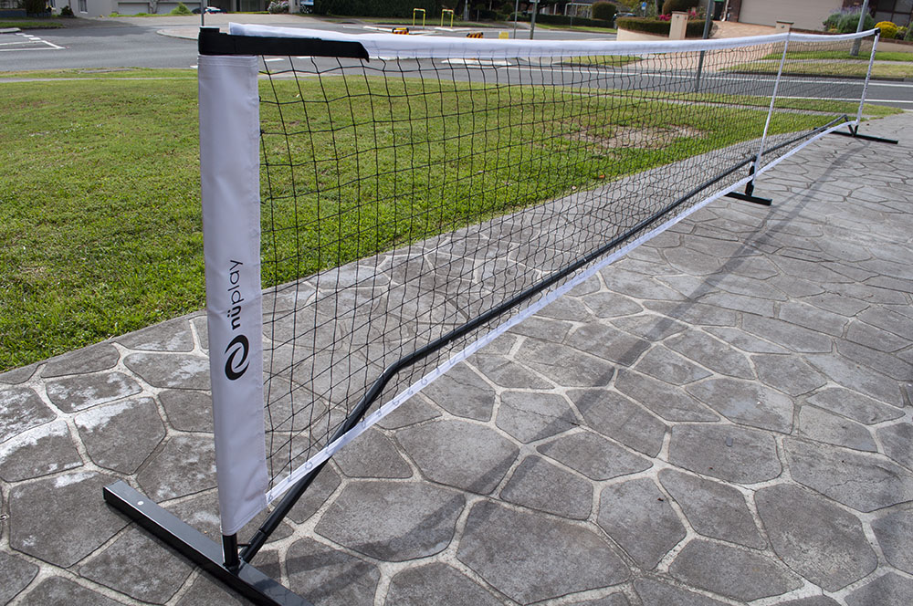 nüplay net fully extended on driveway