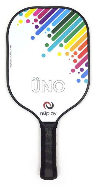 ÜNO paddle - rainbow on white